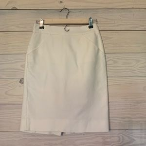 J. Crew creme pencil skirt size 00